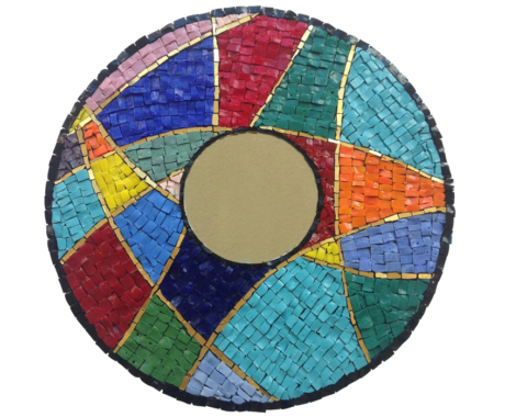 Colorful mosaics mirror