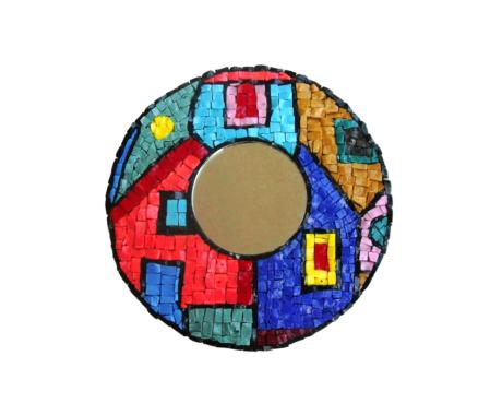 Mosaics mirror houses